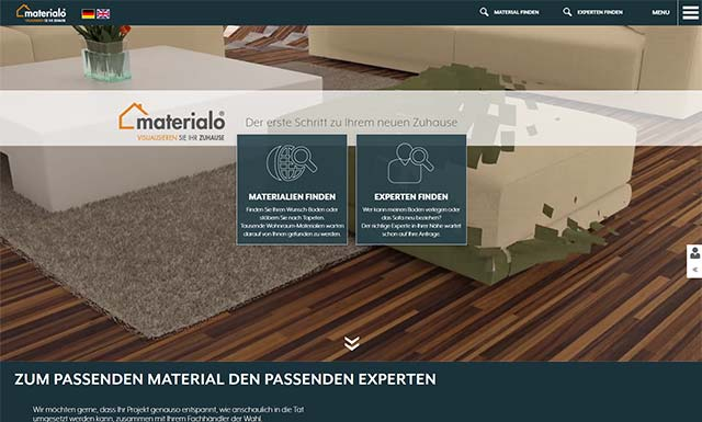 Responsive CMS Webseite materialo