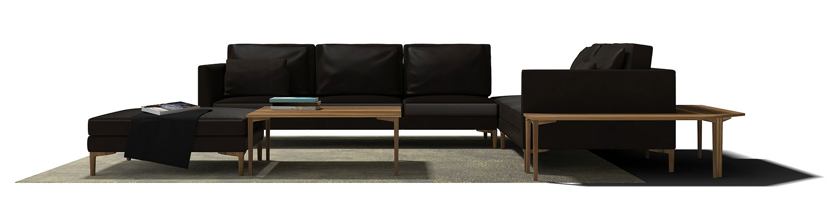 3d mdel sofa and table