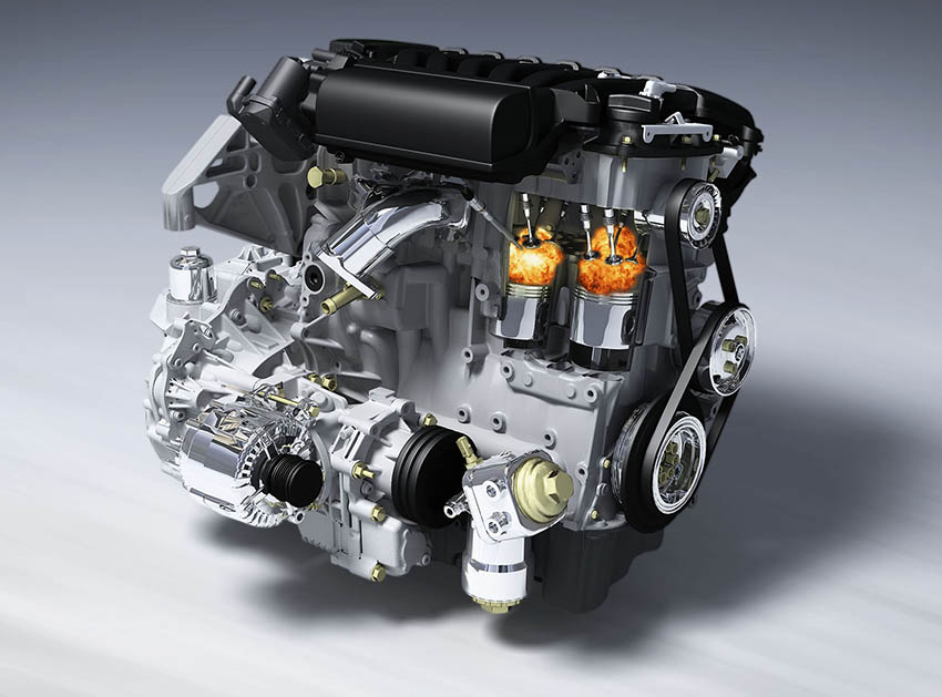 3d render car engine